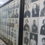 Victims' photos at Tuol Sleng.
