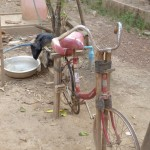 Bicycle water pump
