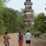 This tower was builtt by the Cham people about 150 years ago, and the Imam often sang/chanted from it. It was partially destroyed by the Khmer Rouge.