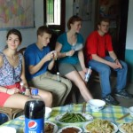 Gathering in the Duan family farmhouse before the birthday banquet