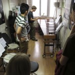 Jacob playing a marimba at Sichuan University.