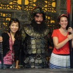 Angeliky and Adrienne meet a Zhang Fei re-enactor.