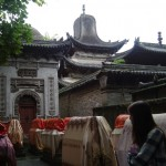 Baba Temple (Hui Mosque) in Langzhong. We were told the cloth-covered tombs were those of the community's imams.