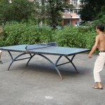 Playing ping-pong on the China West Normal University old campus
