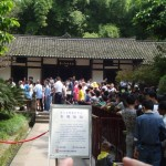 Visiting the Deng Xiaoping Museum on a crowded day.