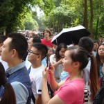 Crowds at the Deng Xiaoping Museum. Photos cannot convey the number of people who were there!