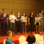 "One of the language classes singing ""Pengyou"""