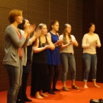 "Members of the GC Women's World Music Choir sing ""Bring Me Little Water Sylvie"""