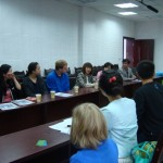 Meeting the principal, host families, and English language faculty at Friendship Middle School in Guang'an