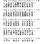 One example of Chinese musical notation