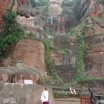 The Giant Buddha of Leshan, seen from the base.