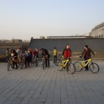 Biking on the city wall in Xi'an.