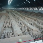 Excavated pit number 1, terracotta warriors guarding the tomb of Emperor Qin Shi Huang.