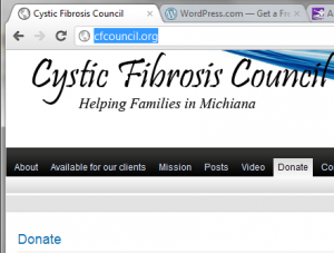 Cystic Fibrosis Web Site