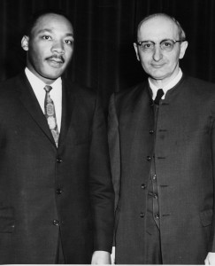 Martin Luther King Jr. and Guy Hershberger. (Photo by the Elkhart Truth)