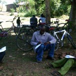 Church members of the Brethren in Christ Church of Malawi complete the survey.