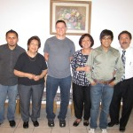 Chris & Host Family (parents, grandmother, & siblings)