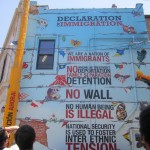 First mural - Declaration of Immigration
