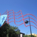 Sculpture of the Puerto Rican flag made of steel, powerful to withstand winds of 145 mph