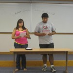Ivette and Jair sing a song - well trying to with the help of the lyrics!