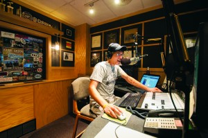 Andrew Witkowski, a senior broadcasting major from Goshen, takes to the airwaves for WGCS