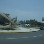 In a roundabout / traffic circle near the Plaza of the Revolution, an interesting structure