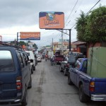 Main road coming into Estelí downtown; crowded, as usual, but at least paved.