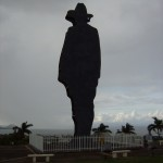 The silhouette of Sandino.