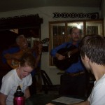 Dinner in Matagalpa - One of the members of this quartet is the music teacher at Annali and Kristen's program.