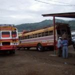 Matagalpa bus terminal heading off to visit Phil and Logan