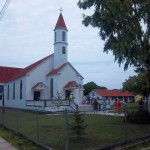 The Moravian church we visited
