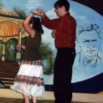 Jacy and Kaleb strut their salsa stuff