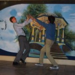 "Brian and Nathaniel battling in ""El Machete de Oro"""