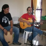 Moises Gadea (right) performs for us on Nicaraguan Mother's Day