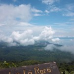 Lake Nicaragua (right) and Laguna de Apoyo (left) come into view