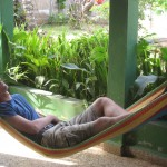 Andrew taking a siesta in the hammock