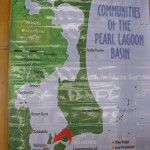 map of the Pearl Lagoon area