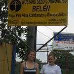 Jen and Amy at the entrance to Hogar Belen