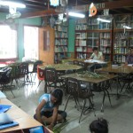 The Cultural Center library, where Anna gives English lessons