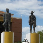 Sandino statue on the right