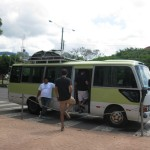 our trusty airconditioned bus and ayudante, Julio
