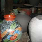 several vases at different stages
