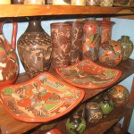 lots of beautiful pottery