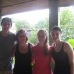Kyle, Mary, Alli, Brook going to Matagalpa