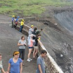 students at the crater of Volcan Masaya