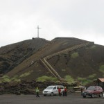 the cross at Volcan Masaya