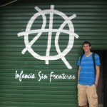 Kyle at the entrance to Infancia sin Fronteras