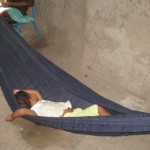 Andrew's host sister napping in the hammock