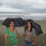 Deanna and Jennifer with matching umbrellas
