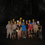 part of the group in the cave